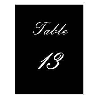 Table Number 13 Postcard