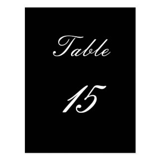 Table Number 15 Postcard