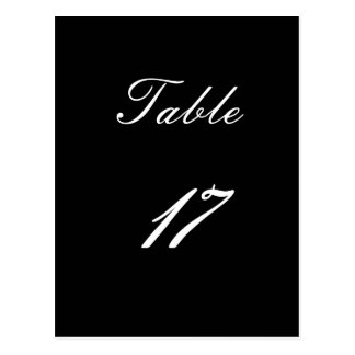 Table Number 17 Post Cards