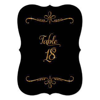Table Number 18, Fancy Script Lettering Receptions 5x7 Paper Invitation Card