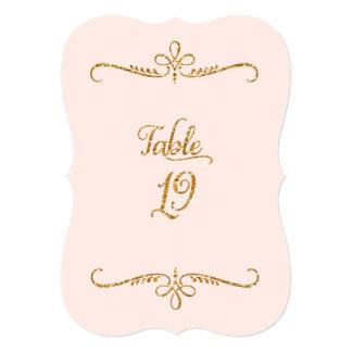 Table Number 19, Fancy Script Lettering Receptions Custom Invite