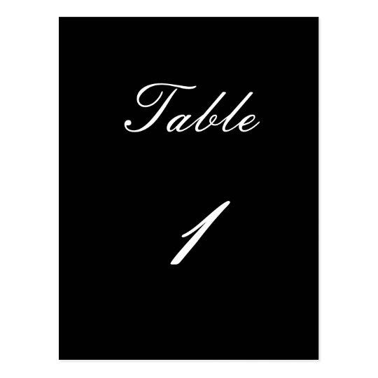 Table Number 1 Postcard