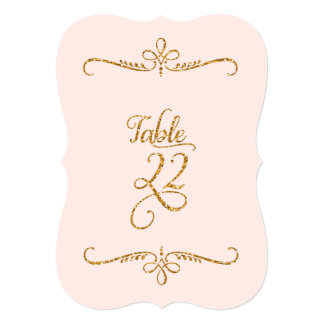 Table Number 22, Fancy Script Lettering Receptions 5x7 Paper Invitation Card