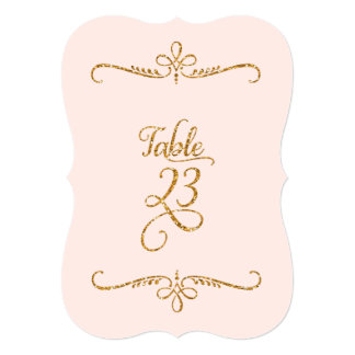 Table Number 23, Fancy Script Lettering Receptions 5x7 Paper Invitation Card