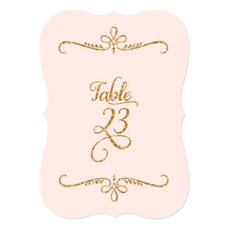 Table Number 23, Fancy Script Lettering Receptions Custom Announcement