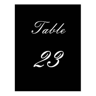 Table Number 23 Postcard