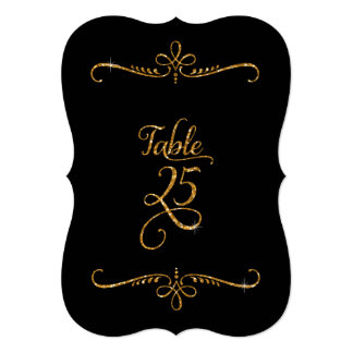 Table Number 25, Fancy Script Lettering Receptions 5x7 Paper Invitation Card