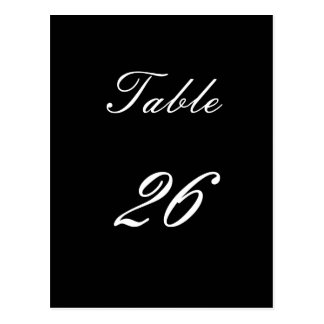 Table Number 26 Postcard