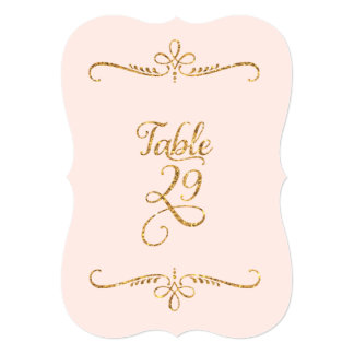 Table Number 29, Fancy Script Lettering Receptions 5x7 Paper Invitation Card
