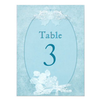 TABLE NUMBER (2ND Choice) Blue Elegance 6.5x8.75 Paper Invitation Card
