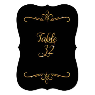 Table Number 32, Fancy Script Lettering Receptions 5x7 Paper Invitation Card
