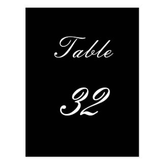 Table Number 32 Postcard