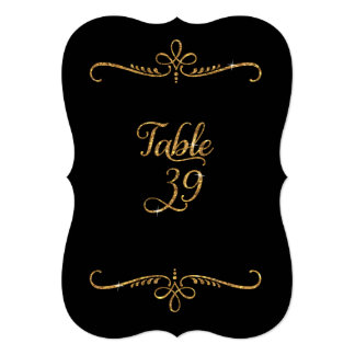Table Number 39, Fancy Script Lettering Receptions