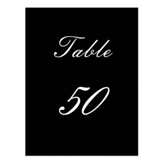 Table Number 50 Postcard