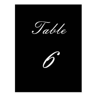Table Number 6 Postcard