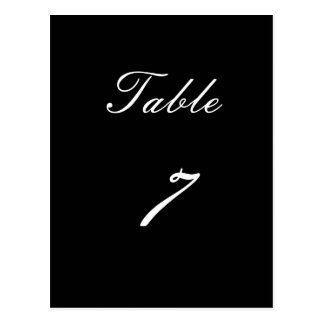 Table Number 7 Postcard