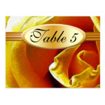 Table Number Card Antique Yellow Rose Post Card