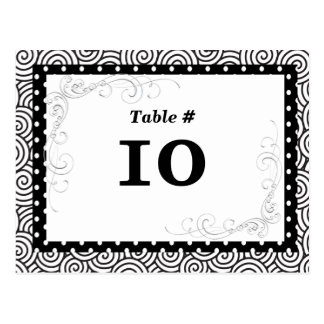 Table Number Card  for Special  Events Postcards