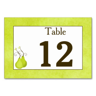 Table Number Card   Perfect Pair   Double-Sided