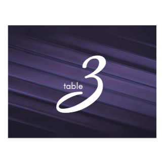 table number card post card