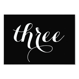 Table Number Card   Script