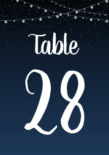 starry night numbers table number cards zazzle