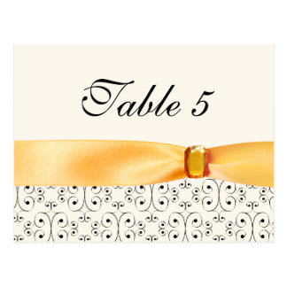 Table Number Card Topaz Wedding Set Postcard
