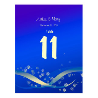 Table Number Card winter Night Post Cards