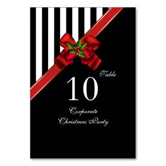 Table Number Cards Corporate Christmas Xmas Party Table Cards