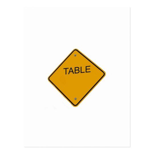 Table Number cCard Postcard