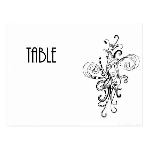Table Number cCard Postcards
