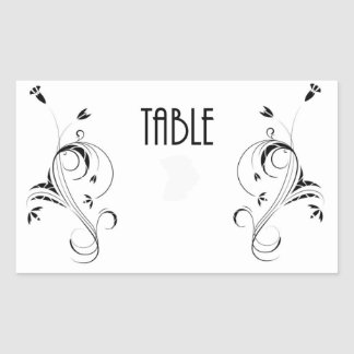 Table Number cCard Rectangle Sticker