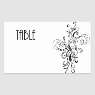 Table Number cCard Rectangle Stickers