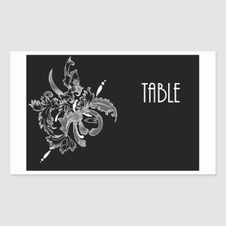 Table Number cCard Rectangular Sticker