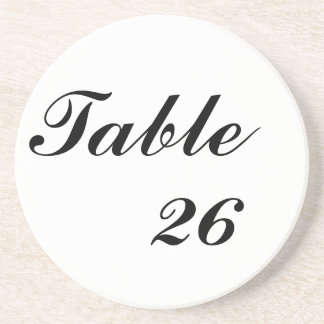 Table Number Drink Coaster