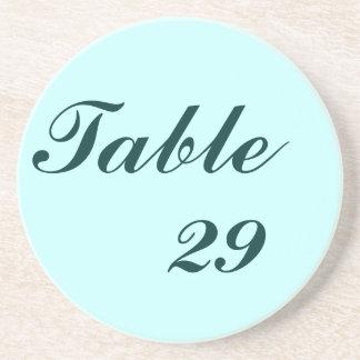 Table Number Beverage Coasters