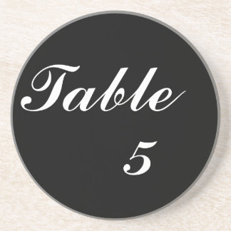 Table Number Coasters