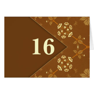 table number elegant retro style note card
