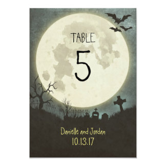 Table Number for a Halloween wedding