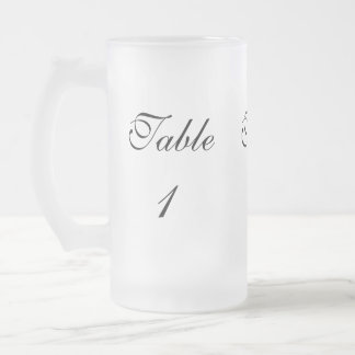 Table Number Frosted Glass Beer Mug