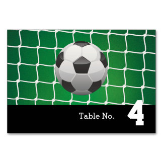 Table Number Goal | Soccer Cool Gifts