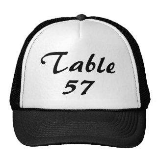 Table Number Trucker Hat