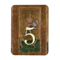 Table Number Knight  Medieval Renaissance wedding Magnet