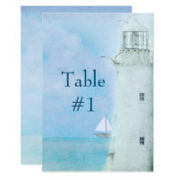 Table Number-Lighthouse Wedding Invitation