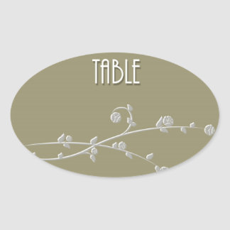 Table Number Oval Sticker