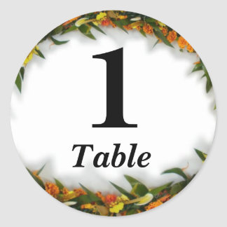 Table number party sticker