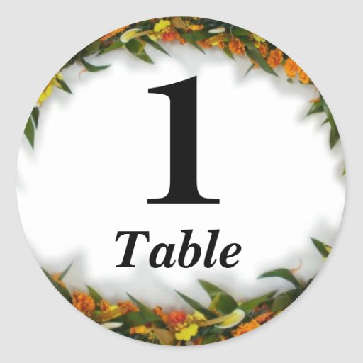 Table number party sticker  Zazzle -> Sticker Table