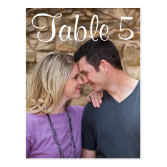 Table Number Picture Postcard at Zazzle