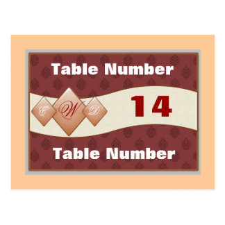 Table Number Placards Postcard