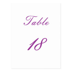 Table Number Postcard at Zazzle